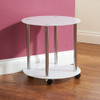 PERFECTION / ODYSSEY CIRCULAR BEDSIDE / LAMP TABLE (MODEL:39141) - WHITE