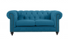 SOLOMONIA  TWO SEATER (2S) VELVET   FABRIC SOFA LOUNGE - 800(H) X 1760(W) - (MODEL - 12-15-21-9-19-91-14-1) - TURQUOISE