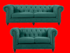 SOLOMONIA 3S + 2S  FABRIC LOUNGE SUITE - (MODEL-3-8-5-18-19-5-18-6-9-5-12-4) -  EMERALD