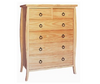 ANNE 6 DRAWERS  TOP-SPLIT TALLBOY CHEST - 1280(H) x 950(W) - COLOUR AS PICTURED