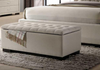 BRONTE STORAGE BOX - OTTOMAN - BENCH  -1070(L)  - LIGHT BEIGE