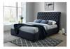 DOUBLE CRYSTAL FABRIC STANDARD BED - LIGHT BEIGE OR DARK GREY