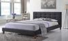 KING  NEWYORK  FABRIC BED - (6326) -  DARK GREY