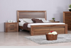 BERKSHIRE  KING 3 PIECE BEDSIDE  BEDROOM SUITE - WORMY OAK
