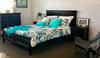 BALLINA DOUBLE OR QUEEN  3  PIECE BEDSIDE   BEDROOM SUITE  - (BED WITHOUT FOOT DRAWERS) -  BLACK