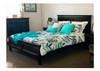 SINGLE BALLINA PANEL BED - BLACK