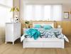 SAVANNA DOUBLE OR QUEEN 6   PIECE (THE LOT)   BEDROOM SUITE -  (MODEL: 5-12-12-1) - WHITE