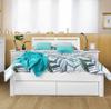 SAVANNA DOUBLE OR QUEEN 3 PIECE (BEDSIDE)   BEDROOM SUITE - (MODEL: 5-12-12-1) - WHITE