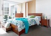 SAVANNA KING  3 PIECE BEDSIDE BEDROOM SUITE - WALNUT OR DARK CHOCOLATE