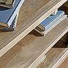 CANNERY BRIDGE 3 SHELF BOOKCASE  - 1112(H) x 896(W) - LINTEL OAK FINISH