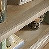 CANNERY BRIDGE 2 SHELF BOOKCASE - 760(H) x 900(W) - LINTEL OAK FINISH