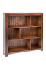 DERBY STAGGERED BOOKCASE WITH BACK - (3x3) - 900(H) X 900(W) - ASSORTED COLOURS