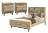 LOFTWOOD (BOOKEND) KING 3  PIECE (BEDSIDE ) BEDROOM SUITE - WOOD CRATE
