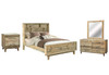 LOFTWOOD (BOOKEND) QUEEN 5  PIECE (DRESSER) BEDROOM SUITE - WOOD CRATE