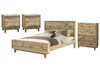 LOFTWOOD  QUEEN PANEL 4  PIECE   TALLBOY  BEDROOM SUITE   - WOOD CRATE