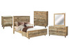 LOFTWOOD QUEEN 6 PIECE (THE LOT)  BEDROOM SUITE - ( BED WITH DRAWERS) - WOOD CRATE