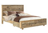 LOFTWOOD QUEEN 4 PIECE (TALLBOY) BEDROOM SUITE - (BED WITH DRAWERS) - WOOD CRATE
