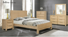 BALLINA QUEEN 4 PIECE TALLBOY BEDROOM SUITE - ( WITH PANEL BED) - EURO BEECH