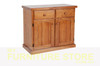 MUDGEE THICK TOP BUFFET - 2 DOOR / 2 DRAWER -  900(H) X 900(W) - ASSORTED COLOURS