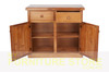 MUDGEE (AUSSIE MADE) THICK TOP BUFFET - 2 DOOR / 2 DRAWER -  900(H) X 900(W) - ASSORTED COLOURS