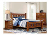 SINGLE ARIZONA SOLID TIMBER BED - COUNTRY  WALNUT