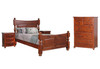 DERBY  KING 4  PIECE (TALLBOY) BEDROOM SUITE  - LIGHT MAHOGANY