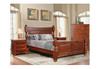 DERBY  KING 3  PIECE (BEDSIDE) BEDROOM SUITE  - LIGHT MAHOGANY