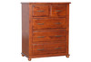 DERBY  QUEEN 4  PIECE (TALLBOY) BEDROOM SUITE  - LIGHT MAHOGANY