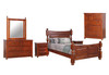 DERBY  QUEEN 6 PIECE (THE LOT) BEDROOM SUITE  - LIGHT MAHOGANY