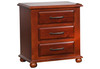 DERBY 3 DRAWERS BEDSIDE TABLE (MODEL:1916) - LIGHT MAHOGANY
