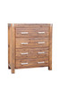 MATRIX 4 DRAWER  TALLBOY CHEST  - DESERT SAND