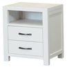 FRENCH COAST QUEEN 4 PIECE TALLBOY BEDROOM SUITE  - BRUSHED WHITE