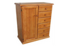 TIMBER NURSERY ROBE WITH 1 DOOR / 6 DRAWERS -  1200(H) X 900(W)  - ASSORTED COLOURS