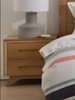 AVANTI 2 DRAWER BEDSIDE TABLE - ASSORTED COLOURS