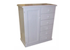 TIMBER NURSERY ROBE WITH 1 DOOR / 6 DRAWERS (AUSSIE MADE) - 1200(H) X 900(W) -  PAINTED COLOURS