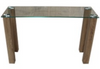 HAVANA GLASS TOP CONSOLE/HALL TABLE - 1200(L) X 400(W)   - COLOUR AS PICTURED