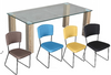 HAVANA FIVE(5) PIECE DINING SETTING WITH HUNT CHAIRS - 900L x 900W TABLE  - MULTICOLOUR