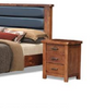 JAYDEN   QUEEN 4 PIECE  TALLBOY BEDROOM SUIT  (3734) BED WITH PADDED HEADBOARD (MODEL - 7-5-15-18-7-9-1) - NUTMEG