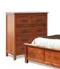 MACKSON  (3729)    QUEEN 3 PIECE  BEDSIDE BEDROOM SUIT  - WITH PADDED BED- WALNUT & BLACK