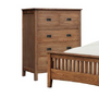 DANIEL (3727) KING 4 PIECE  (TALLBOY) BEDROOM SUITE WITH SERRA CASEGOODS   -CHESTNUT