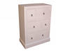BONO TALLBOY WITH 6 DRAWERS - 1200(H) x 900(W) - ASSORTED PAINTED COLOURS
