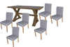COTTAGE BILLABONG  11  PIECE DINING SUITE - 2400(L) X 1100W - COLOUR AS PICTURED