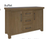COTTAGE BILLABONG) 2 DOOR  3  DRAWER  BUFFET- 800(H) X 1500(W) -COLOUR AS PICTURED