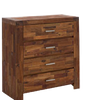 ADRIAN    KING 4   PIECE TALLBOY   BEDROOM SUITE WITH PHILLIPE  CASEGOODS - (MODEL:BR580K)- BRUSHED ACACIA