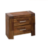 ADRIAN KING 3 PIECE BEDSIDE   BEDROOM SUITE WITH PHILLIPE  CASEGOODS - (MODEL:BR580K)- BRUSHED ACACIA