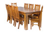 VERITY (VT) DINING  TABLE ONLY - 900(W) x 900(D) - BALTIC , WALNUT , GREYWASH (501)