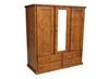 URBAN (AUSSIE MADE) 3 DOOR / 4 DRAWER MIRROR ROBE - 1800(H) X 1300(W) - ASSORTED COLOURS