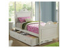 SINGLE HEART BED WITH 4 POLES  EXCLUDING TRUNDLE  - WHITE