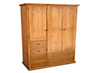 MUDGEE (AUSSIE MADE) TIMBER WARDROBE WITH 3 DOORS & 6 DRAWERS -1800(H) X 1300(W)  -  ASSORTED COLOURS AVAILABLE
