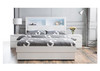 ROGAN  KING 5  PIECE (DRESSER) BEDROOM SUITE - BED WITH LEAD LIGHT    (MODEL:LS 718 K)  - HIGH  GLOSS WHITE